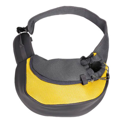 Chihuahua Or Small Dog Pet Carrier Messenger Style Black Yellow & Grey Chihuahua Clothes and Accessories at My Chi and Me