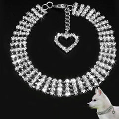 Chihuahua Super Bling Necklace Small Dog Swarovski Crystal Collar Chihuahua Clothes and Accessories at My Chi and Me