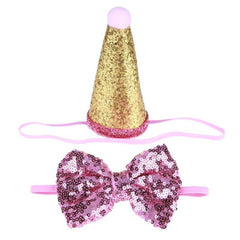 Party Hat & Bow Tie Set for Small Dogs 5 COLOURS - My Chi and Me