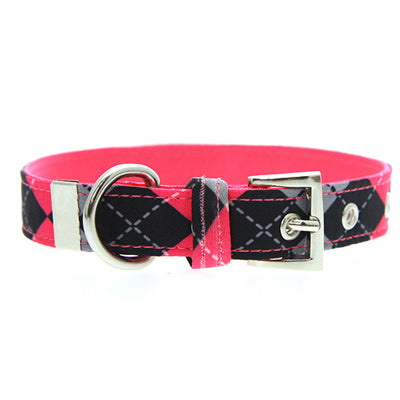 Pink Argyle Collar by Urban Pup Chihuahua Clothes and Accessories at My Chi and Me