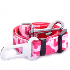 Premium Dog Seat Belt With Clip Pink Camouflage Chihuahua Clothes and Accessories at My Chi and Me