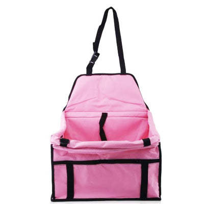 Premium Portable Folding Travel Car Seat Strong Pink Nylon PVC Coated Cloth Chihuahua Clothes and Accessories at My Chi and Me