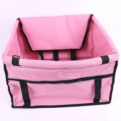 Premium Portable Folding Travel Car Seat Strong Pink Nylon PVC Coated Cloth