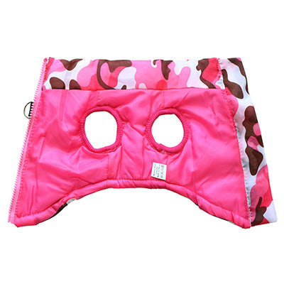 Premium Pink Camouflage Gilet Small Dog Coat Chihuahua Clothes and Accessories at My Chi and Me