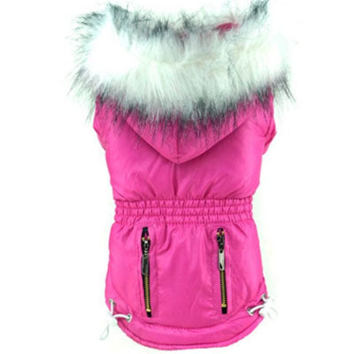Puppy Chihuahua or Small Dog Designer Fuchsia Pink Parka Style Dog Coat - My Chi and Me