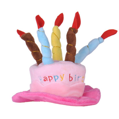 Happy Birthday Hat For Chihuahua Small Dog Or Puppy In Pink