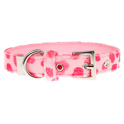 Pink Hearts Collar by Urban Pup Chihuahua Clothes and Accessories at My Chi and Me
