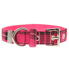 Fuchsia Pink Tartan Collar by Urban Pup Chihuahua Clothes and Accessories at My Chi and Me