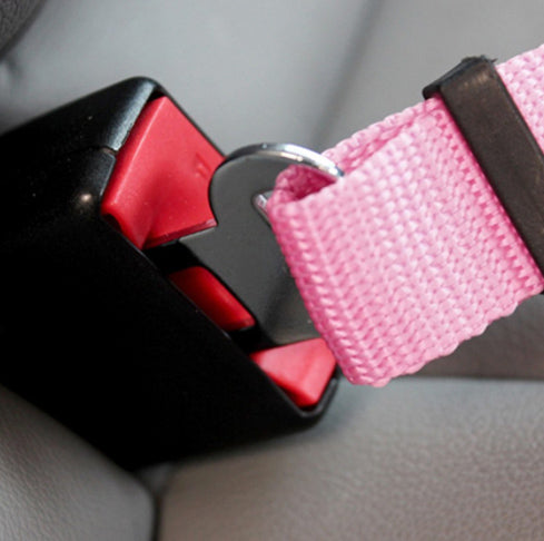 Premium Dog Seat Belt With Clip Pink Chihuahua Clothes and Accessories at My Chi and Me