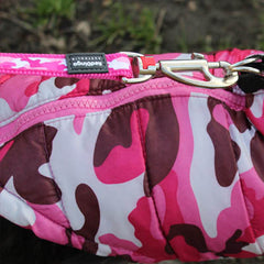 Red Dingo pink camouflage lead with pink camouflage gilet style small dog or chihuahua coat