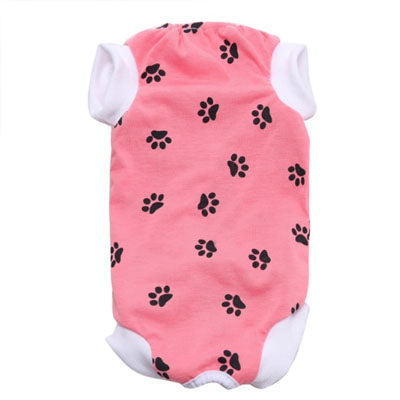 Surgery Suits for Small Dogs Post Wound Surgery Protection Pink Paw Print