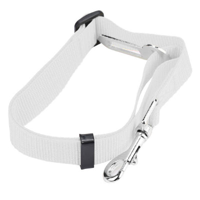 Premium Dog Seat Belt With Clip White Chihuahua Clothes and Accessories at My Chi and Me