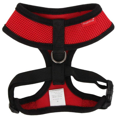 Puppia Soft Mesh Chihuahua Small Dog Harness A Red and Black 3 Sizes Chihuahua Clothes and Accessories at My Chi and Me
