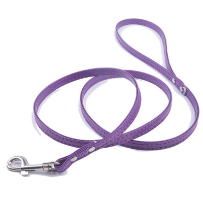 Super Value Flat PU Leather 1cm Lead 1.2 Metres Long 11 COLOURS