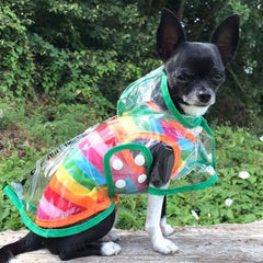 Green Waterproof Raincoat for Chihuahuas and Small Dogs - 3 SIZES Chihuahua Clothes and Accessories at My Chi and Me