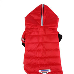 Lightweight Padded Chihuahua Puppy or Small Dog Hooded Coat Red