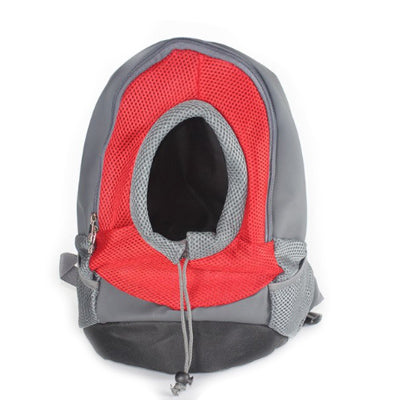 Chihuahua Puppy or Small Dog Rucksack Style Pet Carrier Backpack Red & Grey Chihuahua Clothes and Accessories at My Chi and Me