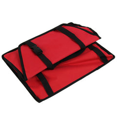 Premium Portable Folding Travel Car Seat Strong Red Nylon PVC Coated Cloth
