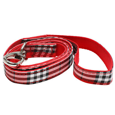 Red Tartan Lead by Urban Pup Chihuahua Clothes and Accessories at My Chi and Me