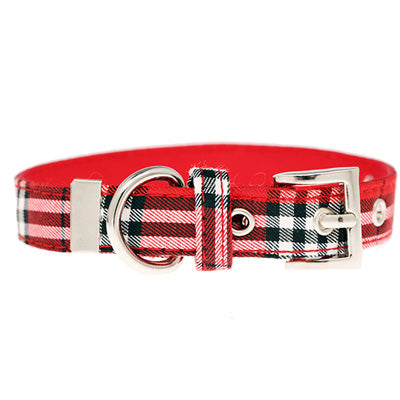 Red Checked Tartan Collar by Urban Pup Chihuahua Clothes and Accessories at My Chi and Me