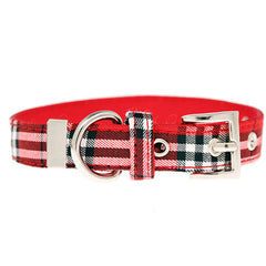 Red Tartan Collar by Urban Pup Chihuahua Clothes and Accessories at My Chi and Me