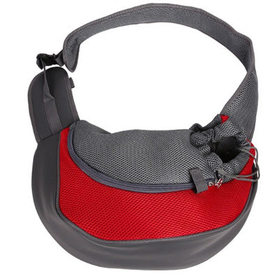 Small Dog Pet Carrier Messenger Style Black Red & Grey 2 Sizes - My Chi and Me