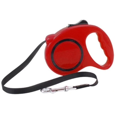 Retractable Chihuahua or Small Dog Lead red