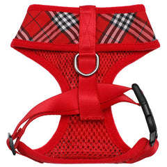 Red Checked Tartan Harness by Urban Pup Chihuahua Clothes and Accessories at My Chi and Me