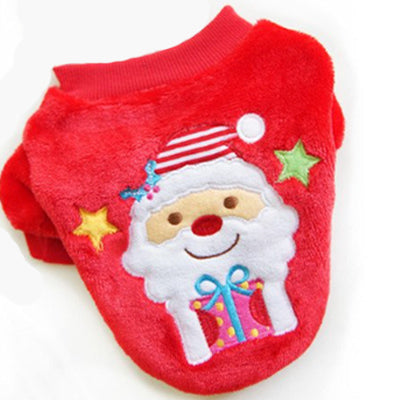 Christmas Velour Premium Chihuahua and Small Dog Jumper Santa Design Chihuahua Clothes and Accessories at My Chi and Me