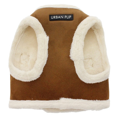 Urban Pup Faux Shearling Chihuahua or Chihuahua Puppy Vest Harness Sheepskin Chihuahua Clothes and Accessories at My Chi and Me