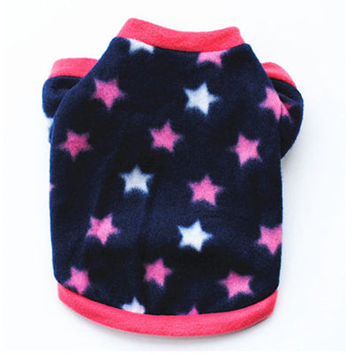 Chihuahua Puppy Fleece Pink with White Stars Design 2 SIZES Chihuahua Clothes and Accessories at My Chi and Me