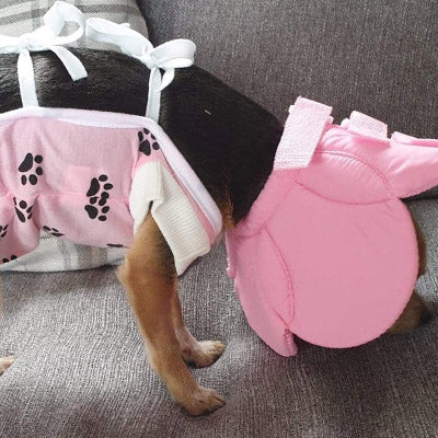 Surgery Suits for Small Dogs Post Surgery Wound Protection Pink Paw Print