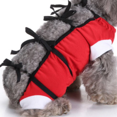 Surgery Suit for Small Dogs Post Wound Surgery Protection Red