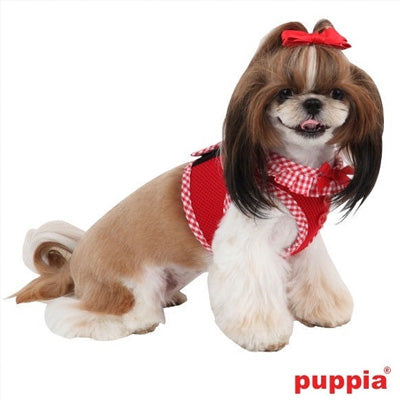 Puppia Vivian Vest Style Jacket Harness B Red 3 SIZES Chihuahua Clothes and Accessories at My Chi and Me