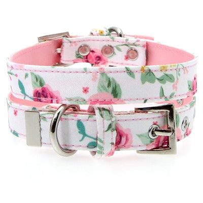 White Floral Cascade Collar by Urban Pup