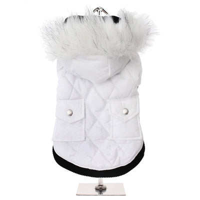 Urban Pup Chihuahua Puppy Chihuahua or Small Dog Snow White Quilted Padded Parka Style Coat Chihuahua Clothes and Accessories at My Chi and Me