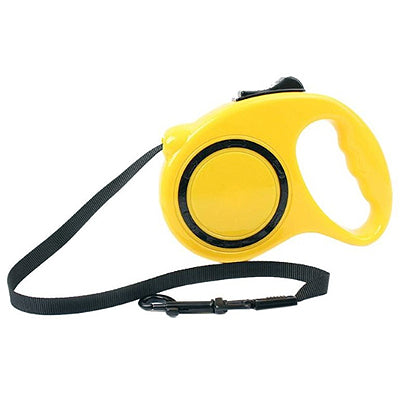 Retractable Quality Extending Chihuahua or Small Dog Lead yellow