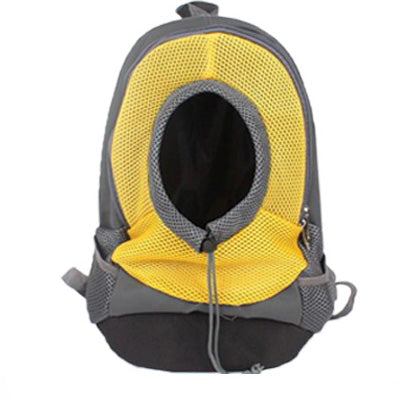 Chihuahua Puppy or Small Dog Rucksack Style Pet Carrier Backpack Yellow & Grey Chihuahua Clothes and Accessories at My Chi and Me