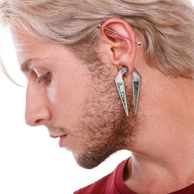 Abalone Steel Ear Weight PAIR