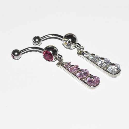 Waterfall Belly Bar 14G-My Body Piercing Jewellery