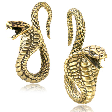 Brass Cobra Ear Weights PAIR