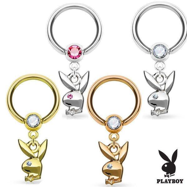 Playboy Captive Ring 16G-My Body Piercing Jewellery