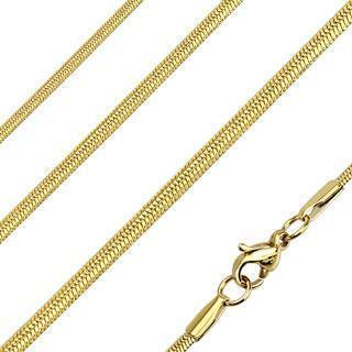 Gold Oval Snake Chain