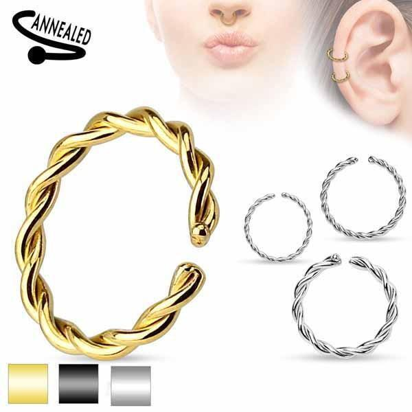 IP Continuous Twist Ring 20G 18G 16G 14G