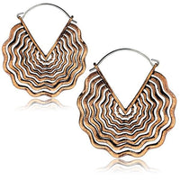 Rose Gold Wave Earring PAIR-My Body Piercing Jewellery