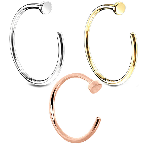 14kt Gold Nose Hoop 20G 18G-My Body Piercing Jewellery