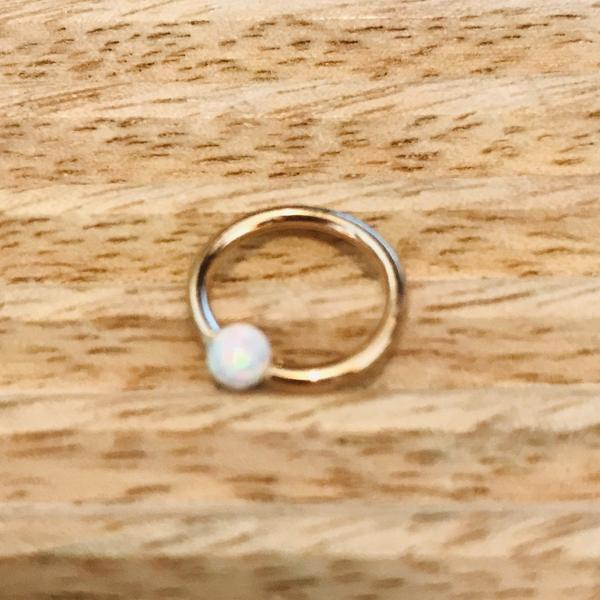14kt Gold Opal Fixed Side CBR-My Body Piercing Jewellery