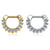 14kt Gold Paved Septum Clicker 16G-My Body Piercing Jewellery