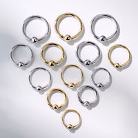 14kt Gold Captive Ring-My Body Piercing Jewellery