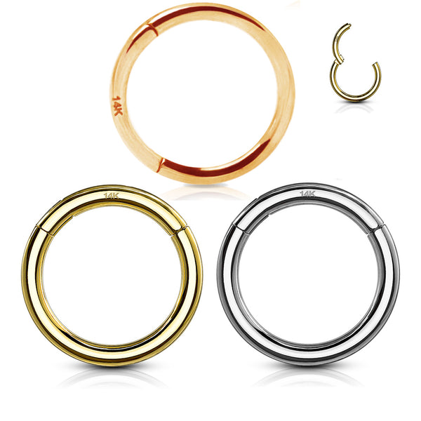 14kt Gold Hinged Ring-My Body Piercing Jewellery